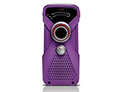 FRX1 Hand-Powered Weather Radio - Purple