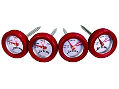 Jim Beam 4-Piece Mini Thermometer Set