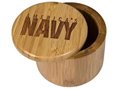Totally Bamboo Navy Salt Box