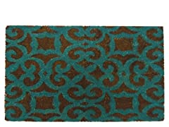 Coir Mat Fiona Brown/Turquoise