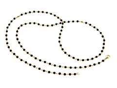18k Plated Black Onyx Stone Necklace