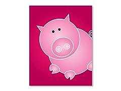 "11"" x 14"" Pig Print"