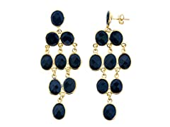18k Plated Black Onyx Earrings