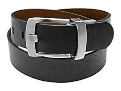 Ashworth Reverse Leather Belt, Blk/Brn