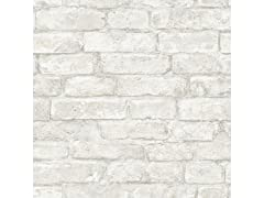 White Denver Brick Peel & Stick Wallpaper