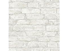 White Denver Brick Peel & Stick Wallpaper