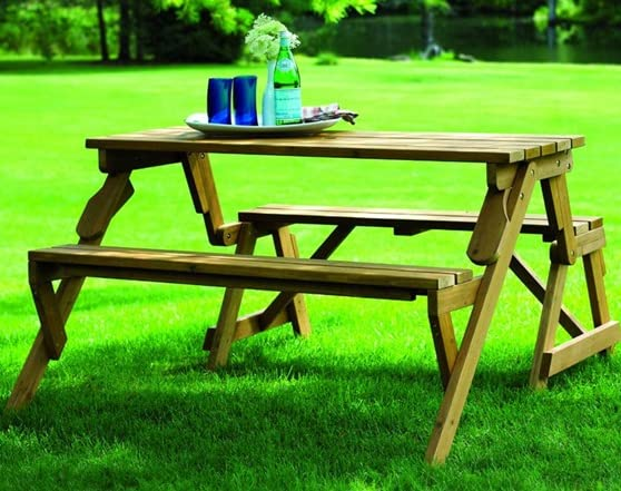 Interchangeable Picnic Table And Bench