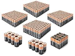 AA/AAA/C/D/9V Alkaline Batteries - Uber 424 Pack