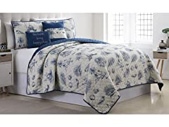 Printed Reversible Quilt Set (5-Piece)