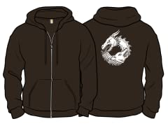 """Of Ice and Fire"" Brown Zip Hoodie"