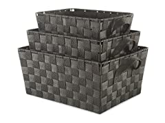 Woven Strap Storage Baskets Set Of 3