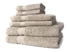 Egyptian Cotton 6pc Towel Set - Khaki