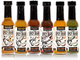The Spicy Shark Hot Sauce, 6 Pack