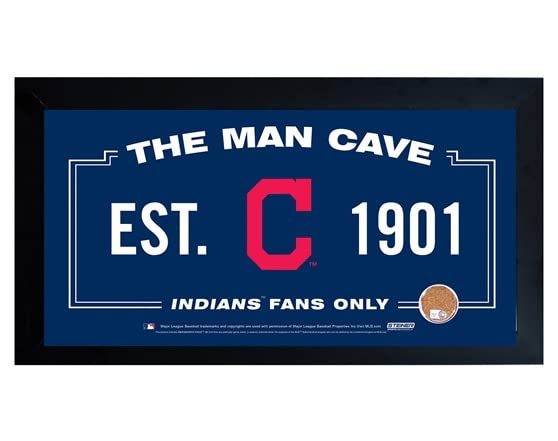 Man Cave Entrance Signs : Framed man cave sign w game dirt