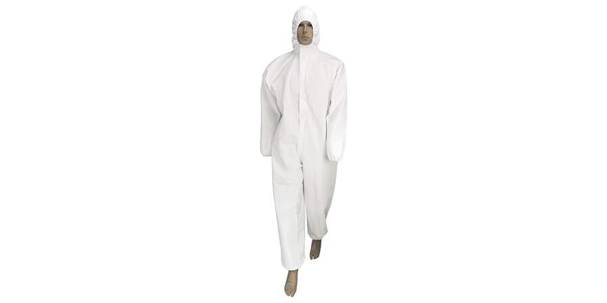 Seniorwear Disposable Isolation Coveralls - XL, Single   WOOT