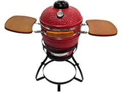 "Beacon 13"" Ceramic Kamada Grill, Red"