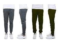Mens 2PK Classic Fleece Jogger Pants