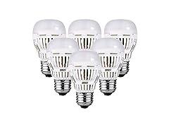 SANSI 9W A15 LED Bulb, 6-pack