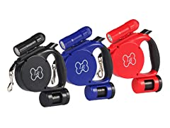 Pets LED 3-in-1 Retractable Leash