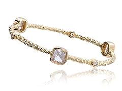Riccova 14K Gold Plated Bangle, Crystal