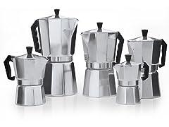 Aluminum Stovetop Espresso Maker 5PC Set