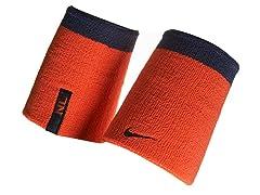 Doublewide Wristbands - Orange/Black