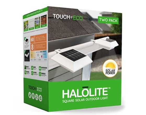 2 Pack Of Solar Outdoor Halolites