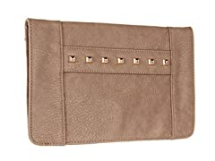BCBG Studded Clutch, Dark Spice