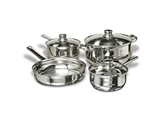 Concord Cookware 7-Piece Stainless Steel Cookware Set