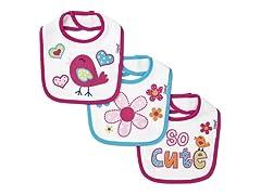 Cutie 3-Pack Terry Bibs