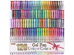 Shuttle Art 120 Unique Colors Gel Pens