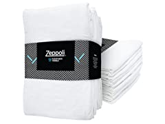 Zeppoli 31x31 Flour Sack Towels, 12-Pack