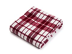 Cashmere-Like Blanket Throw - Red/White