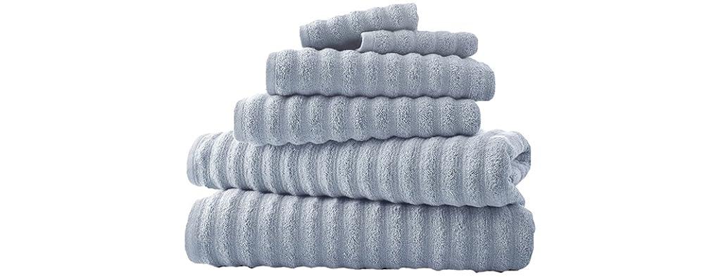 6-Piece Luxury Spa Wavy Quick-Dry Towel Set