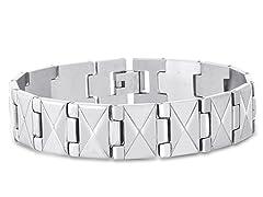 Stainless Steel Flat X Bracelet
