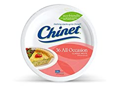 Chinet Premium 8 3/4-Inch Paper Plates, 36 Count