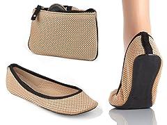 Cream Flat Shoe