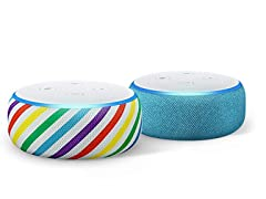 Echo Dot Kids Edition (Rainbow or Blue)