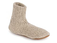 Morty Men's Ragg Wool Slipper Socks,Natl