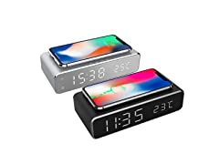 Alarm Clock Wireless Charger w/ Wall Adapter