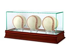 MLB Glass Triple Baseball Case