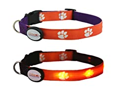 Clemson University LED Collar - Med