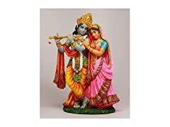 PTC 8 Inch Krishna and Radha Figurine