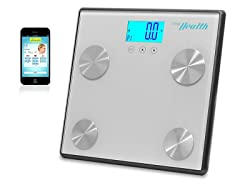 Pyle Bluetooth Digital Scale-Silver
