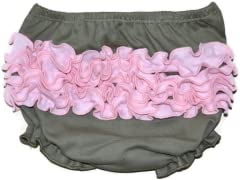 Ruffled Bloomer - Grey/Pink