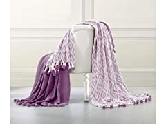 Allure 2-PK 100% Cotton DiamondThrow