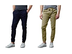Men's 2Pack Cotton Stretch Twill Joggers