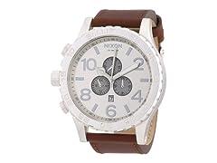 Nixon Chronograph Men's Saddle Leather Watch