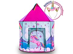 Unicorn Kids Play Tent and Headband