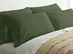 2pk Quilted Pillows w/4 Bonus Cases-Hunter